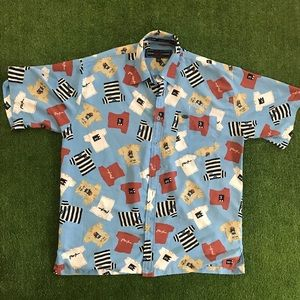 Vintage Phat Farm Graphics Button Down Shirt